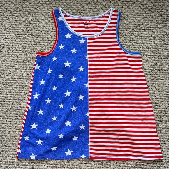 Stars and Stripes open back tank top